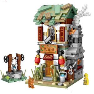 LOZ Mini Block Ancient Shopping Street Building Street Toy - Black Smith (1725)