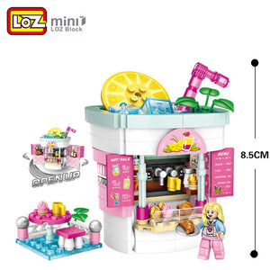 Amusement /Theme Park Drink Shop Mocmini Mini Building Blocks (#1729)
