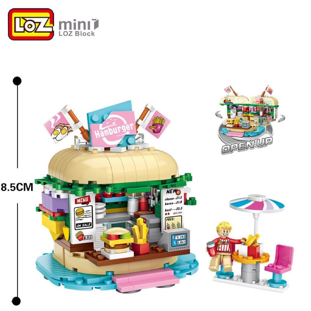 Amusement /Theme Park Burger Shop Mini Building Blocks (#1730)