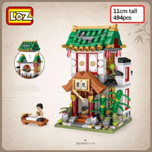 LOZ Mini Block Ancient Shopping Street Building Street Toy - Academy (1735)