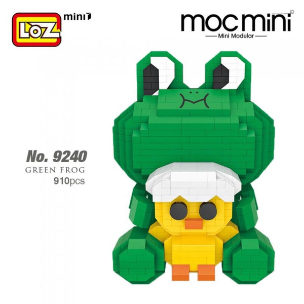 LOZ Diamond Blocks Cartoon Frog (#9240) Action Figure Cartoon Colorful Animals Educational Bricks Toys for Children