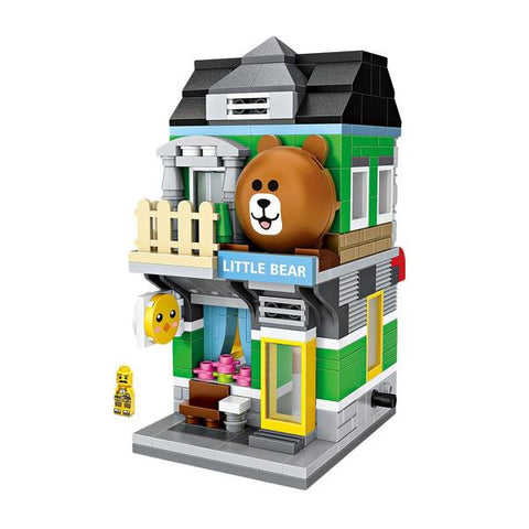 LOZ Mini Nano Diamond Building Block Shopping Street Building Block - LITTLE BEAR STORE (1630)