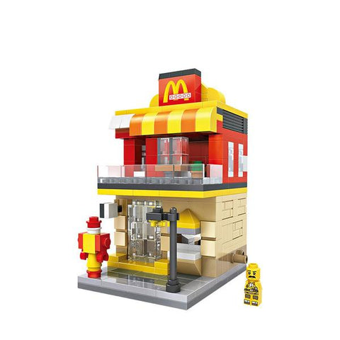 LOZ Mini Block Shopping Street Building Block Toy - McDonald (1607)