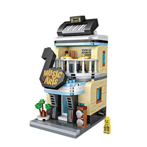 LOZ Mini Block Shopping Street Building Street Toy - MUSIC & ART (1623)