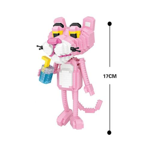 LOZ Mini Blocks Pink Panther Lovely Leopard Building Diamond Blocks Bricks Educational DIY Plastic Assembly Toy Hobbies (#9785)