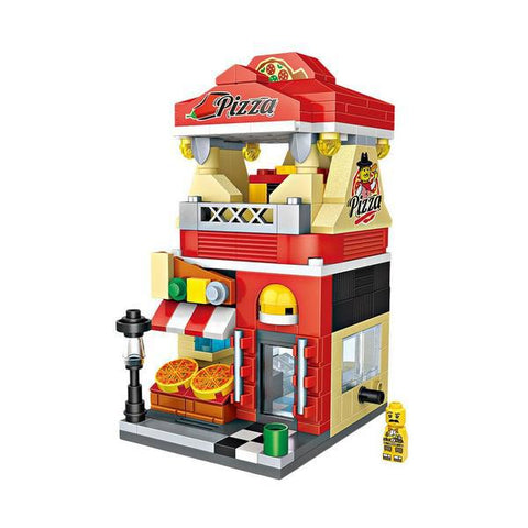LOZ Mini Block Street Shop Building Block Toy Mini Block - PIZZA SHOP (1628)