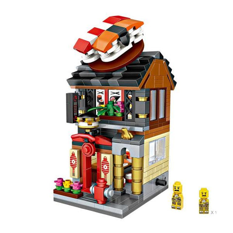LOZ Mini Nano Diamond Building Block Mini Street Shop Toy - SUSHI SHOP (1625)