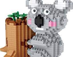 LOZ Diamond Blocks Koala Pen Holder Building Bricks Character Toys for Children (#9212)
