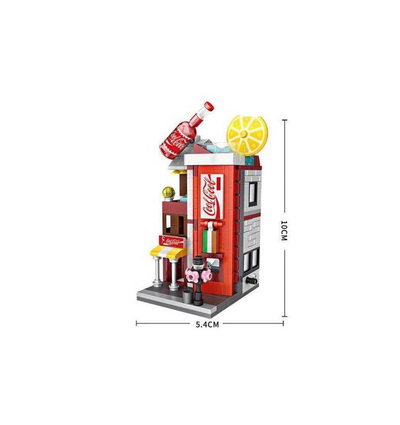 LOZ Mini Street DIY Mini Building Block Toy - COCA COLA STORE (1622)