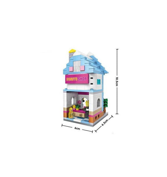 LOZ Mini Block Street Shop Mini Nano Block Diamond Building Block Toy - DONUT SWEET SHOP (1606)