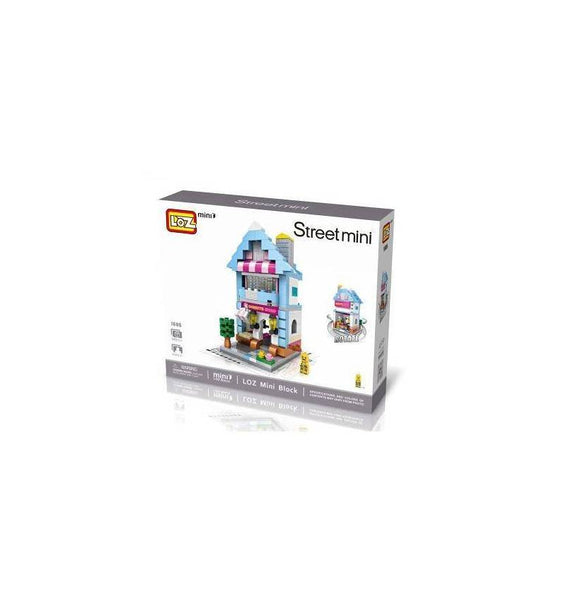 LOZ Mini Block Street Shop Mini Building Block Toy - DONUT SWEET SHOP (1606)