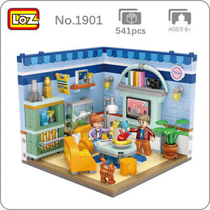 LOZ Corner Mini Blocks Living Room (1901) Building Block Toys with Original Box