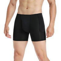 Men's Padded Butt Lifter Solid Boxers