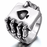 Men's Vintage Black Stainless Steel Rings