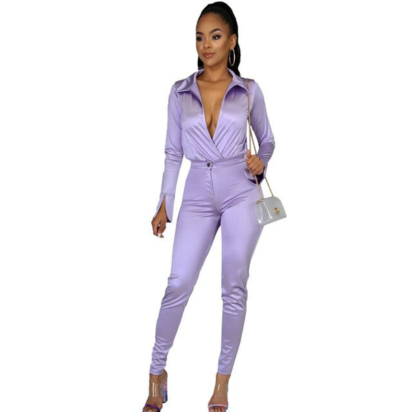 Women's Long Two Piece Long Sleeve 7 Color Set