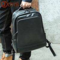 Men's Genuine Leather Travel-Computer-School Backpack