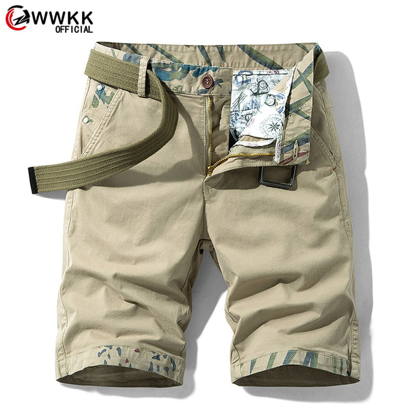 Men's Military Multi-Pocket Calf-Length Short Pants
