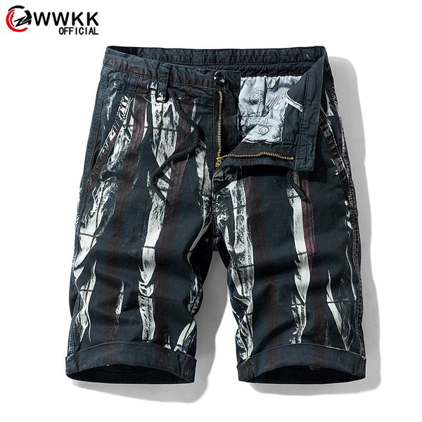 WWKK Quality Brand Men Cargo Shorts 2020 Summer Male Casual Shorts Waist Men's Street Cargo Short (No belt)