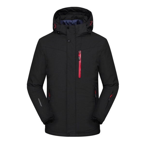 Men's Waterproof Solid Color Lightweight Hooded Zipper Fashion Jacket