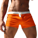 Men's Beach Swimwear Solid Color Breathable Board Shorrs