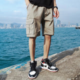 2020 Summer Men's Baggy Multi Pocket Military Cargo Shorts Male polyester Black Army green Mens Tactical Shorts Short Pants