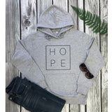 Women's Hope Letter Print Unisex Long Sleeve Pullovers