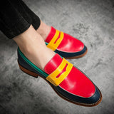 Men's Formal Patchwork Leather Fashion Handmade Wedding Oxford Loafers