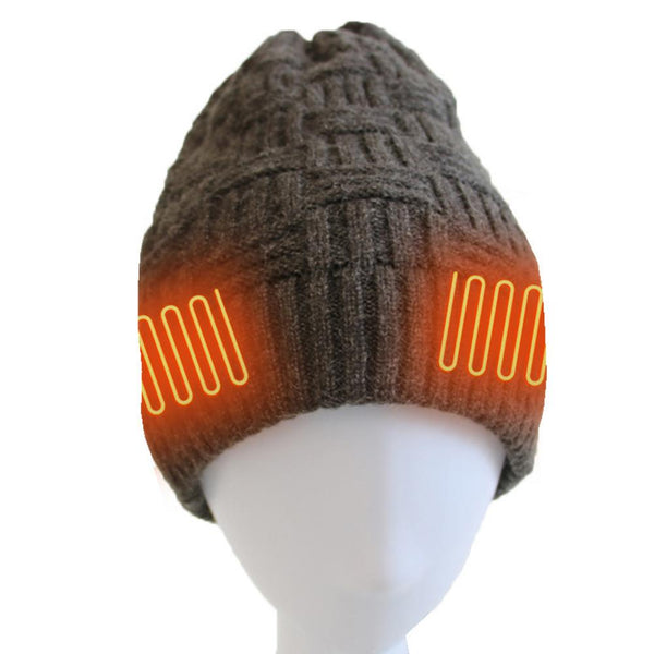 Men-Women Winter Grey Warm Outdoor Knitted Electric Hat