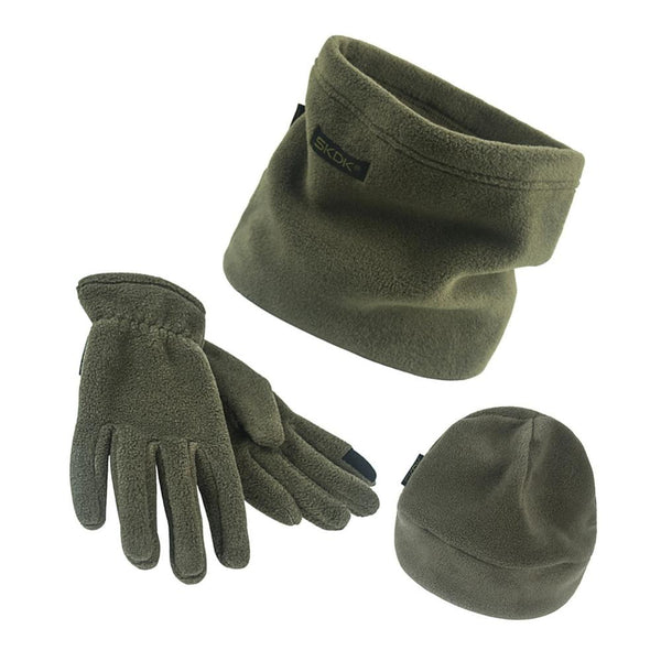 Men's-Women's 3 Piece Scarf-Hat-Gloves Set