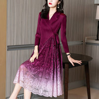 Women's Two Pieces Long Neck Patchwork High Waist Dress