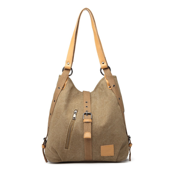 Kono Canvas Hobo Slouch Shoulder Bag