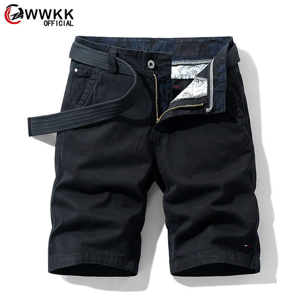 Men's Cotton Casual Military Multi-Pocket Calf-length Short Pants