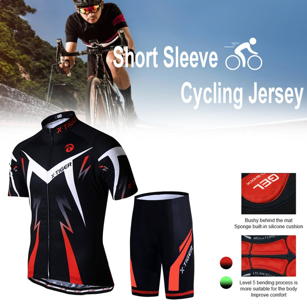 2021 Bicycle Short Sleeve Shorts Set Men's Cycling Jersey Suit Cycling Clothes