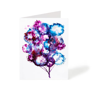 abstract watercolour tree handmade art greeting card