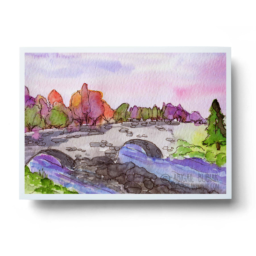 abstract autumn stream landscape wall art print