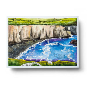 dingle ireland cliffs of moher watercolour wall art print