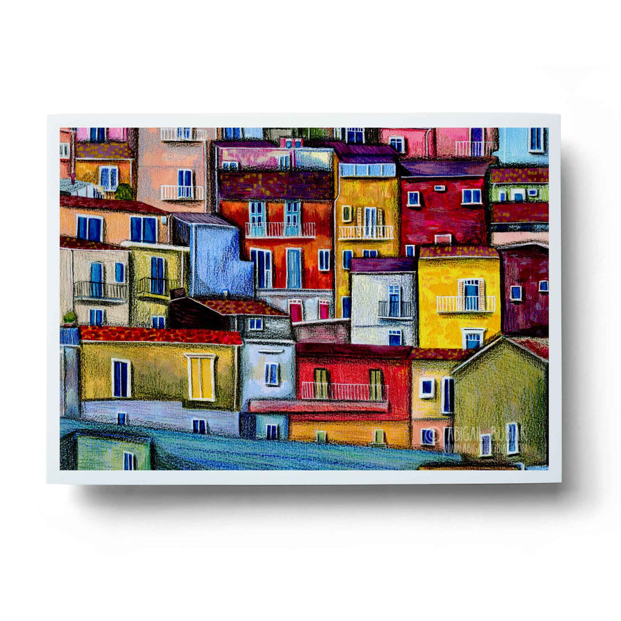 Houses of Sicily Art Print