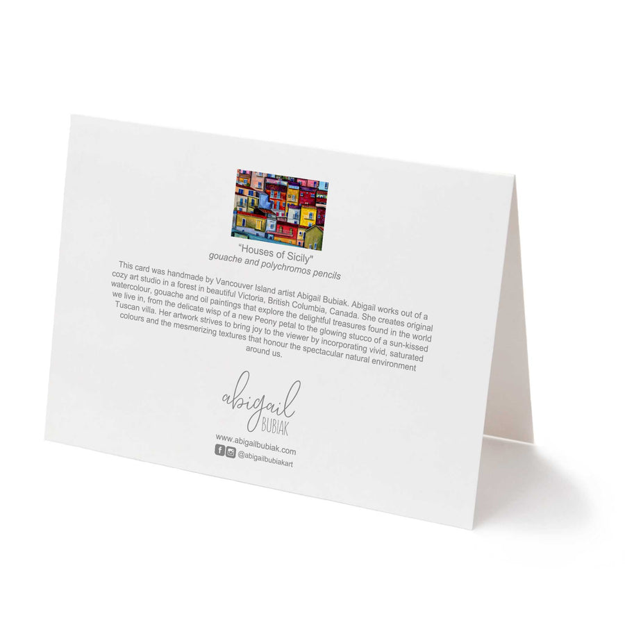 Houses of Sicily Greeting Card