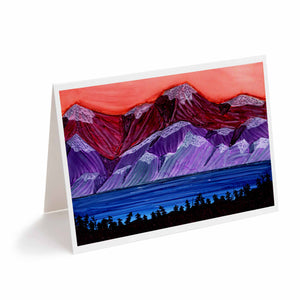 Sunset in the Mountains Greeting Card