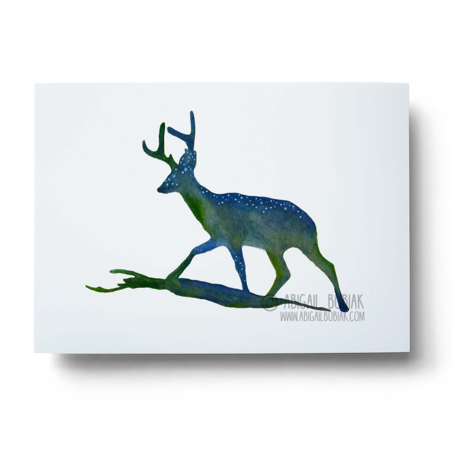 Spotted deer watercolour wall art print