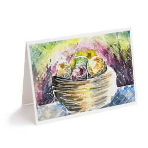 abstract watercolour fruit bowl still life housewarming greeting card