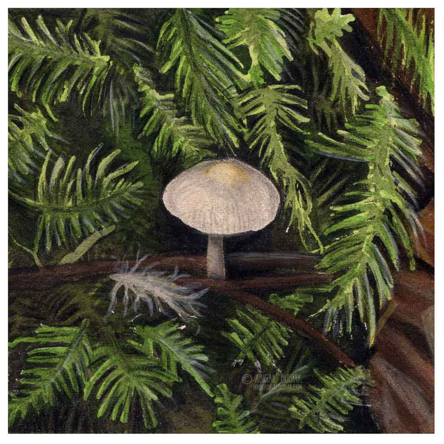 Nestled | Mini Mushroom Series Art Print