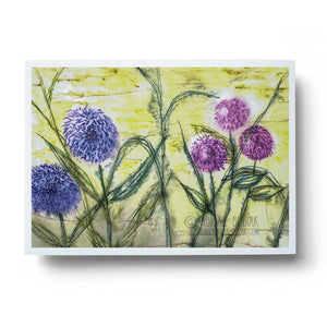 abstract watercolour flowers dandelions floral wall art print