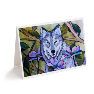 watercolour wolf art greeting card