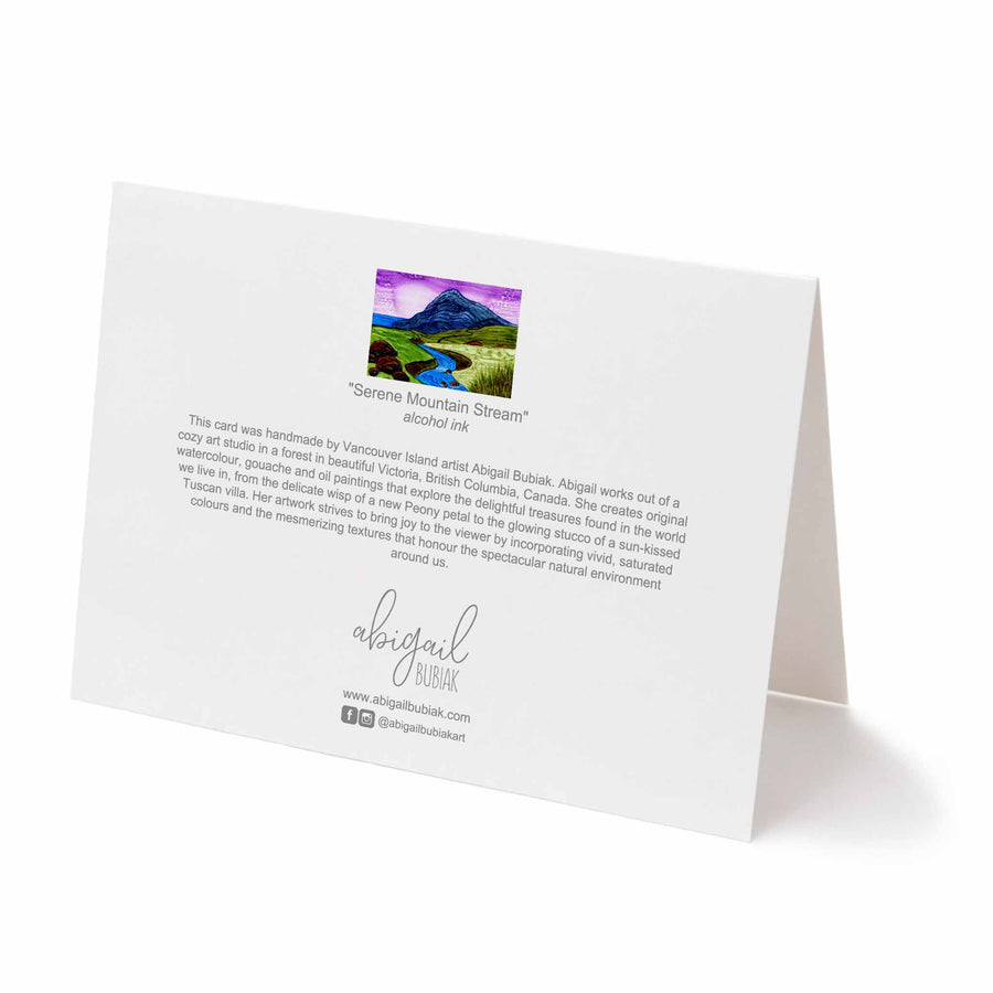 Serene Mountain Stream Greeting Card