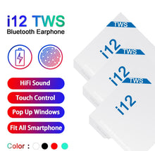Load image into Gallery viewer, i12 TWS 5.0 Bluetooth Air Buds  (Click for pricing)