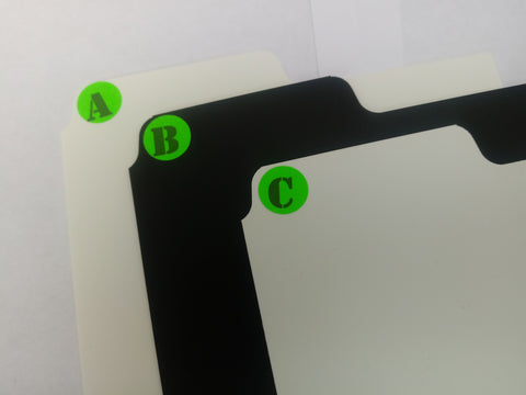 Fluro A-Z dividers for CD