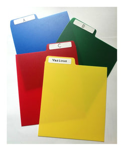 20 Multi Colour Pack CD Dividers