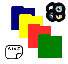 "Load image into Gallery viewer, 7"" Record Dividers A-Z Kit (Mixed Colours)"