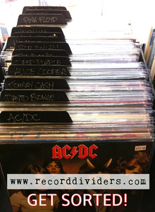 "12"" Vinyl Record Dividers (10 Pack - Black)"